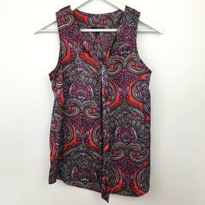 3/$22 The Limited Paisley Print Sleeveless Blouse